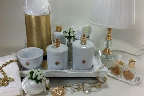 vitrine kit higiene cristal dourado-band branca
