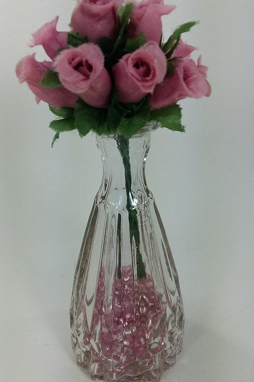 ref 19 vazinho cristal com rosinhas - rosa antigo