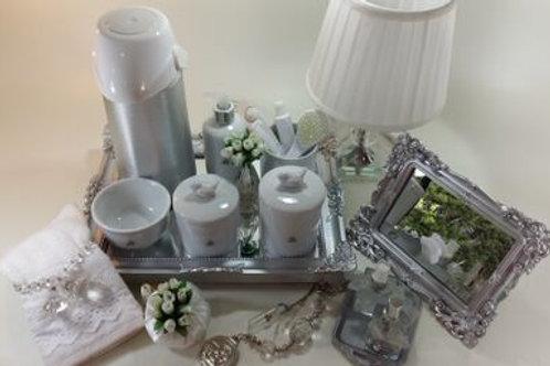 vitrine kit higiene passarinho br -band prata