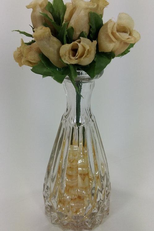 ref 18 vazinho cristal com rosinhas - âmbar
