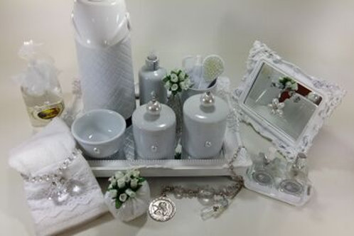 vitrine kit higiene pérola branca-band branca