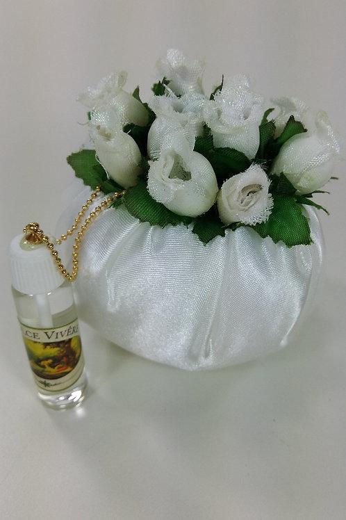 ref 296 sachê flores com ervas aromáticas - branco