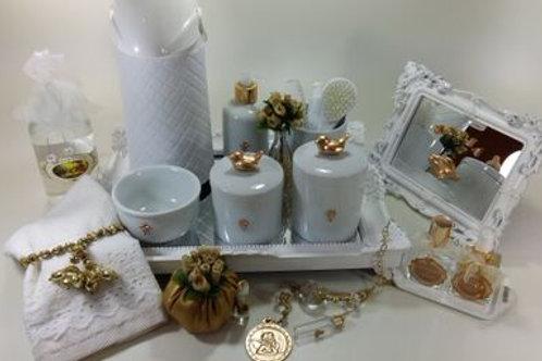 vitrine kit higiene passarinho dourado -band branc