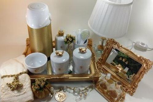 vitrine kit higiene passarinho dourado-band dourad