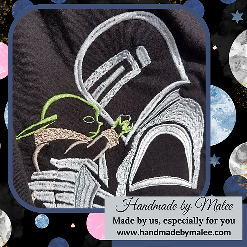 Mando and The Child (Embroidery)