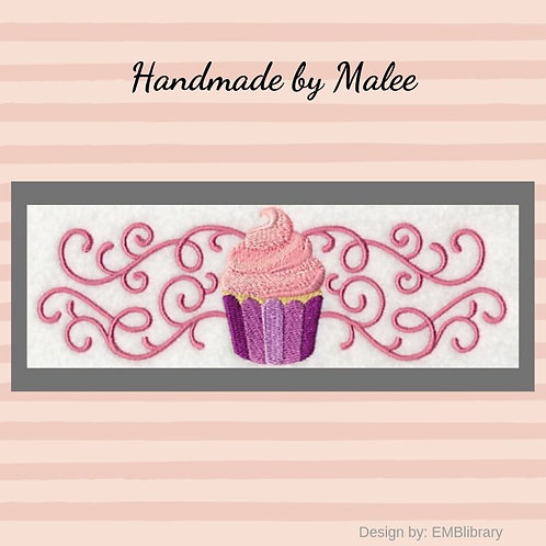 Sweet Cupcake in Filigree Border Kid's Apron