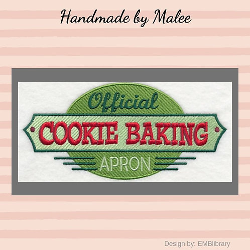 Official Cookie Baking Apron