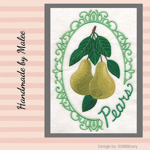 Fruit Cameo  - Pears
