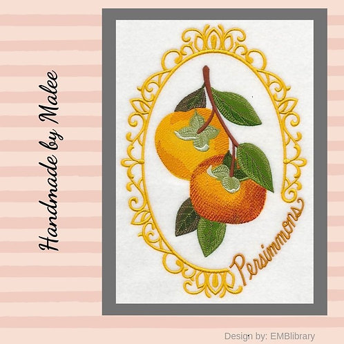 Fruit Cameo - Persimmons
