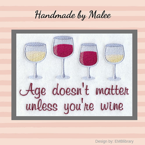 Age Doesn't Matter Unless You're Wine
