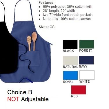 non adjustable apron