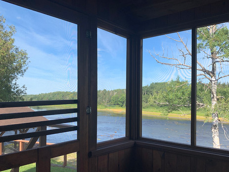 Watch the river from the lodge...