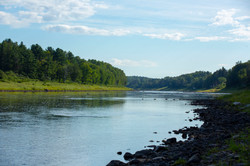 Looking downriver on the Miramichi