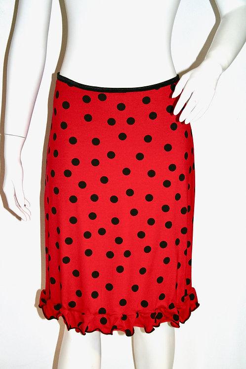 Christina nederdel i rød med bomber