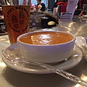 Roasted Red Pepper and Smoked Gouda Bisque