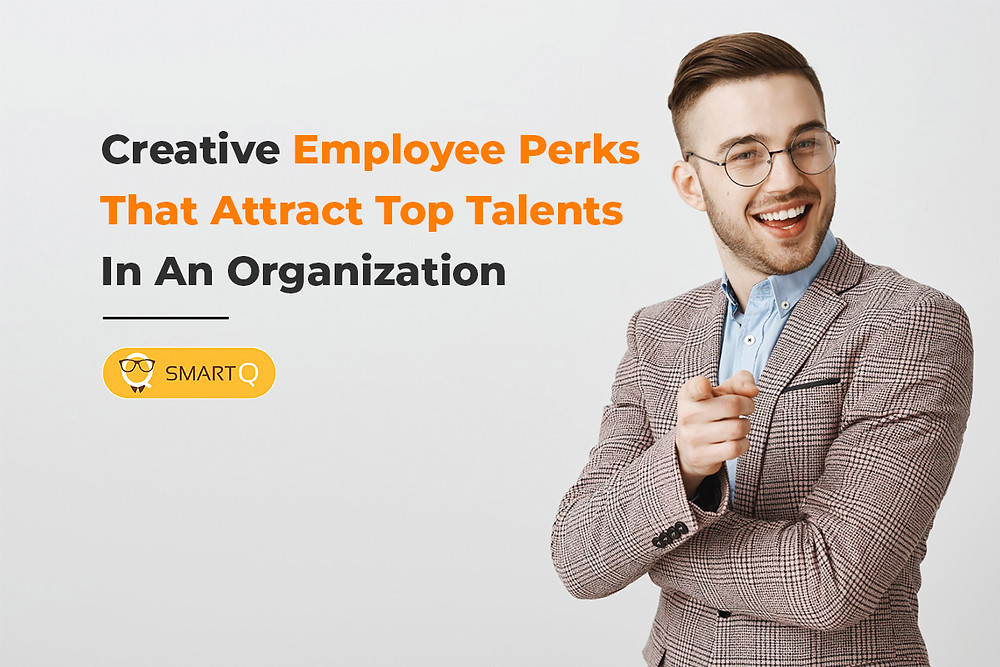 Creative employee perks that attracts top talents in an organization title card
