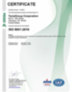 TerraGroup Corporation 9001-2015 Certifi