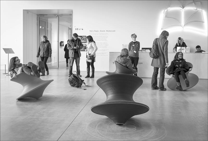 Sitting Around at the Turner Gallery.