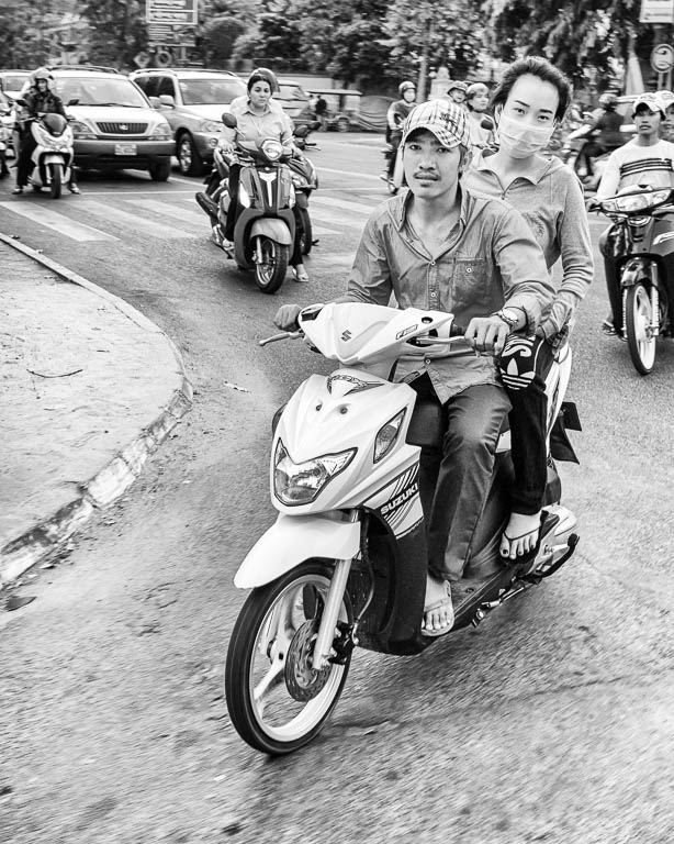 Motor-scooter Couple