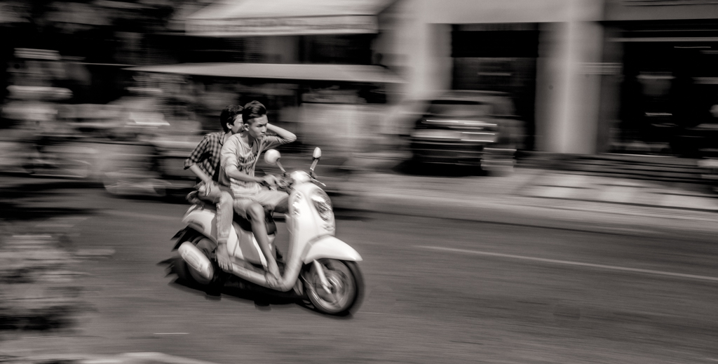 Boys on a Scooter