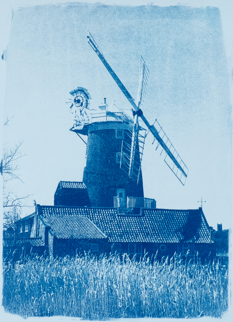 Cley Mill Cyanotype