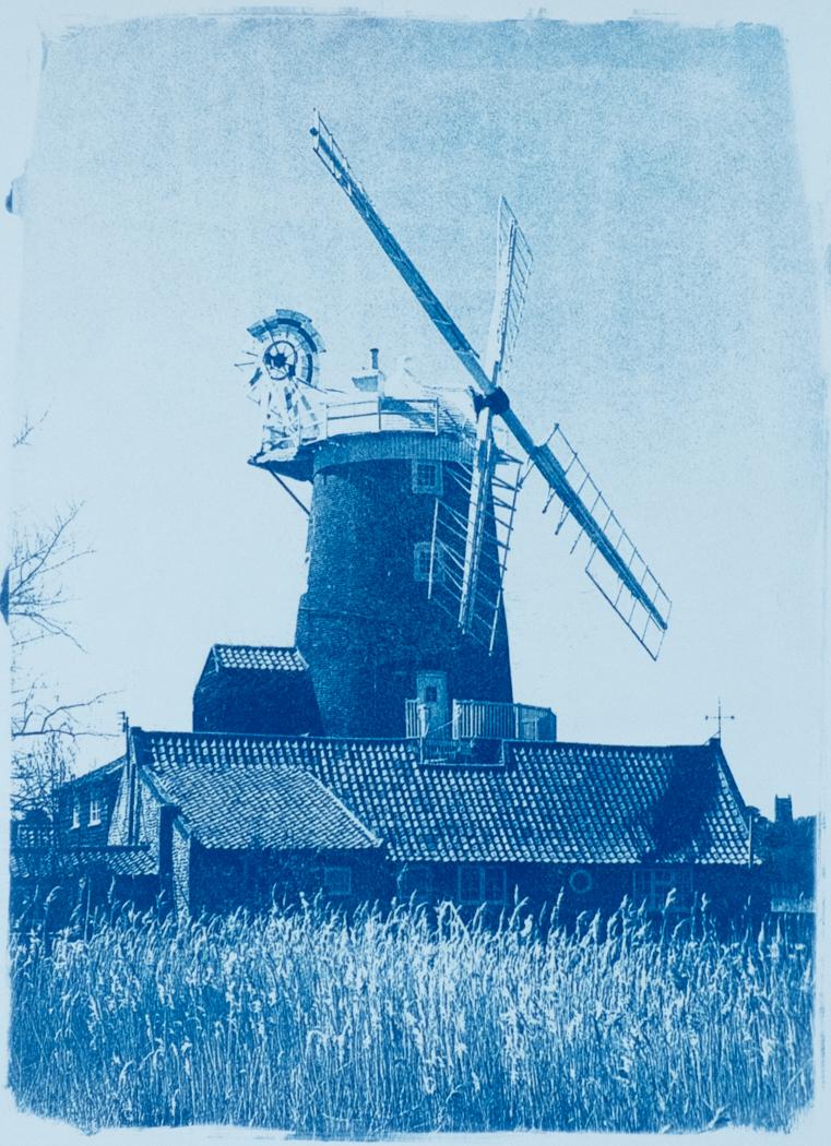 Cley Mill Cyanotype