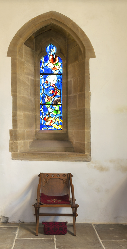 All Saints Church, Tudeley, Window and Stool.