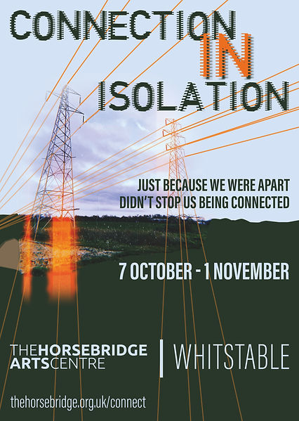 """Poster for """"Connection in Isolation"""" exhibition"""