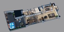 Axonometria Preliminar -Primer piso 101.