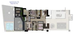 APARTAMENTO TIPO 101 piso 2