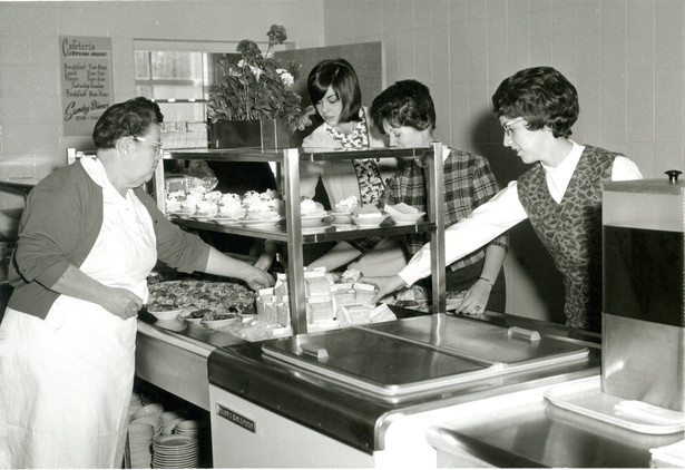 NMC History - West Hall CafeteriaServing