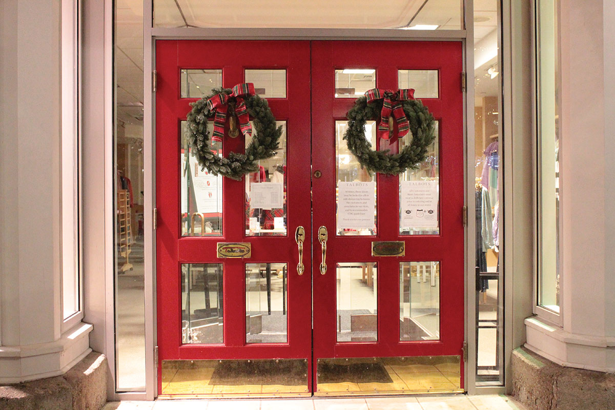 Red Wreathed Doors