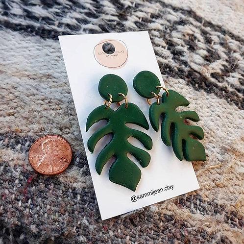 Monstera Dangle Earrings