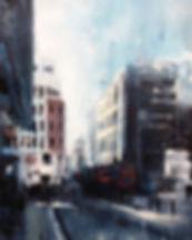 Cannon St 41cmx51cm oil on canvas