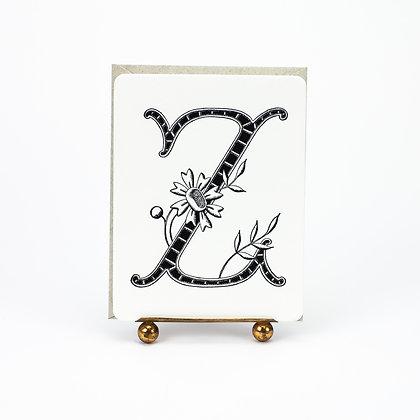 Daisy Monogram Z