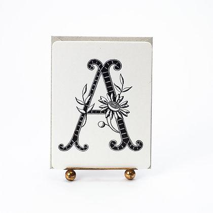 Daisy Monogram A