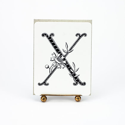 Daisy Monogram X