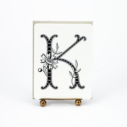 Daisy Monogram K