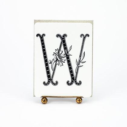 Daisy Monogram W