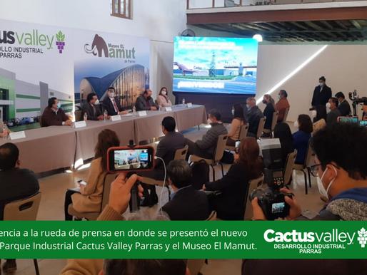 Presenta Grupo Cactus Valley nuevo Parque Industrial y Museo paleontológico El Mamut
