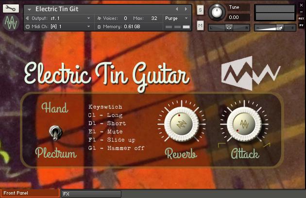 Electric tin GUI