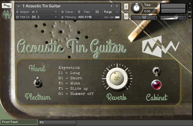 Acoustic tin GUI