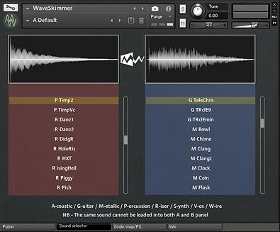 WaveSkimmer Sound Selector Panel