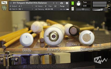 Timphonia MODWHEEL Timpani with mallets Virtual Instrument for Kontakt