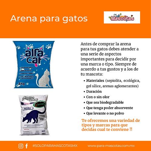 Arena para el cuidado e higiene de tus gatos