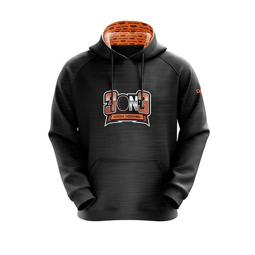 3on3 Iron Hockey sublimated hoodie
