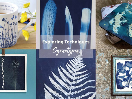EXPLORING TECHNIQUES – CYANOTYPES with Folksy
