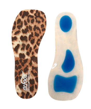 D02033 Fashion Lady 3/4 Silicone Women's Insoles