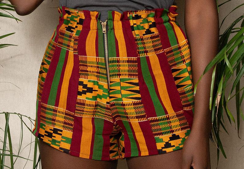 Akua Kente Shorts