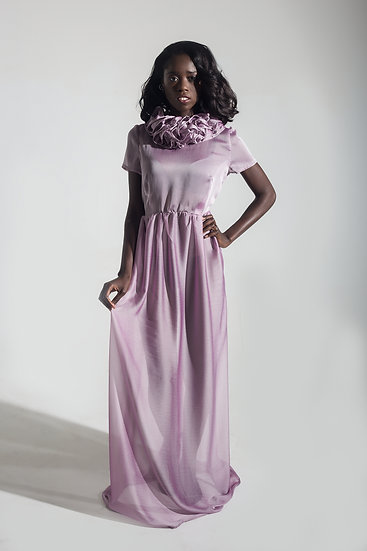 Sheer Chiffon Gown